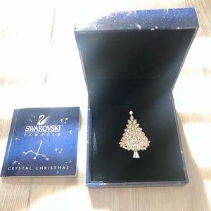 ✨ SWAROVSKI Crystal Christmas Tree Brooch 2000